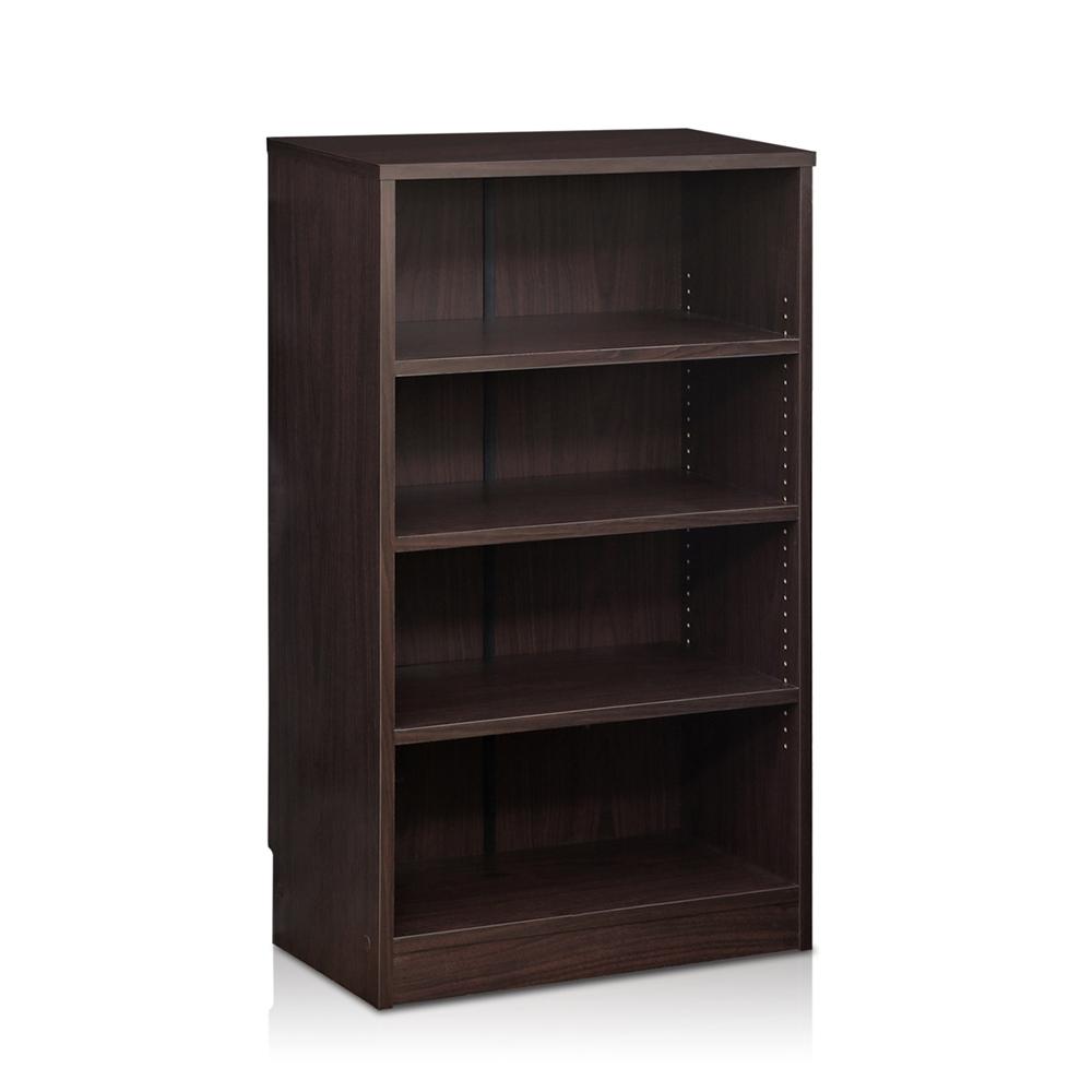 Indo  4-Tier Accessories Storage Shelf, Espresso. Picture 1