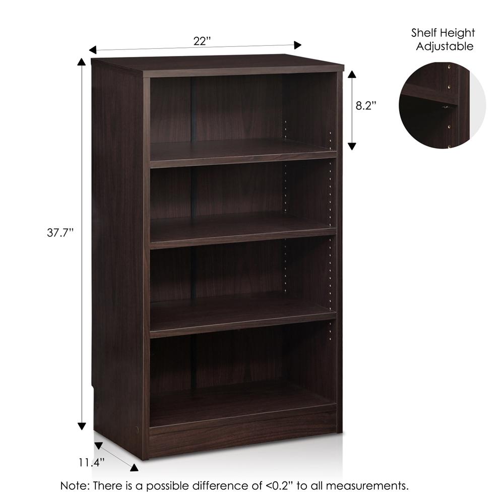 Indo  4-Tier Accessories Storage Shelf, Espresso. Picture 2