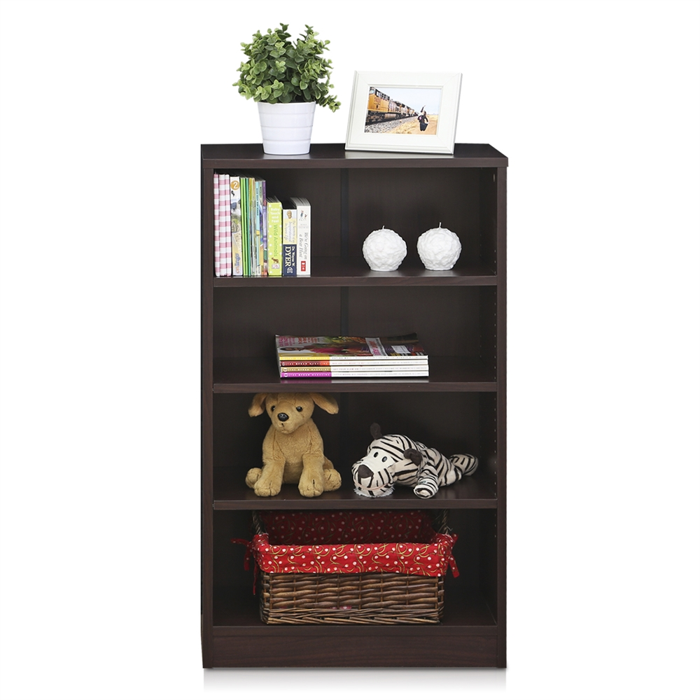 Indo  4-Tier Accessories Storage Shelf, Espresso. Picture 4