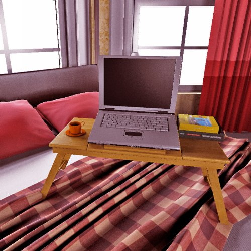 Nature Bamboo Mobile & Laptop Tray. Picture 5