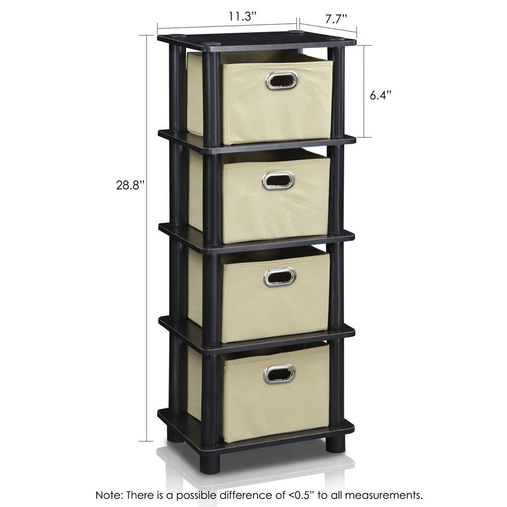 LACi 4-Bins System Rack, Espresso. Picture 2