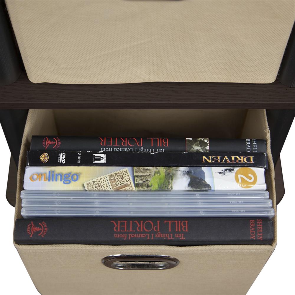 LACi 4-Bins System Rack, Espresso. Picture 5