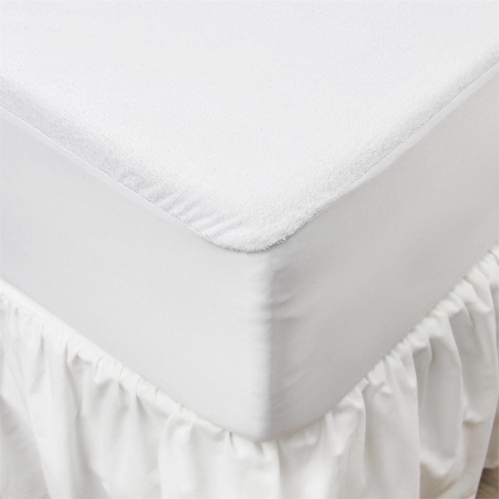 Angeland Terry Cloth Mattress Protector 100%Waterproof Hypoallergenic Vinyl Free, Full. Picture 5