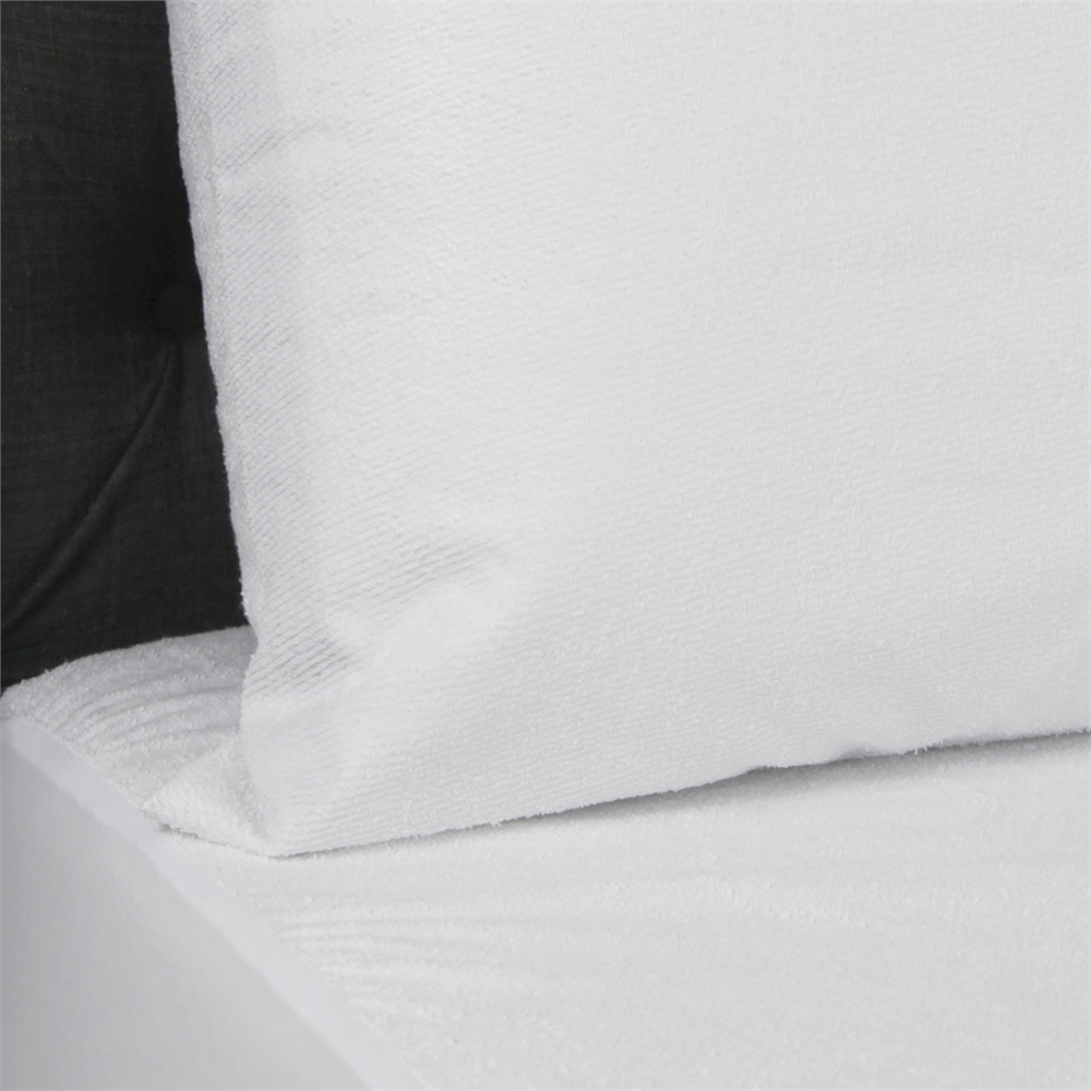 Angeland Terry Cloth Waterproof Pillow Protector, Standard. Picture 4