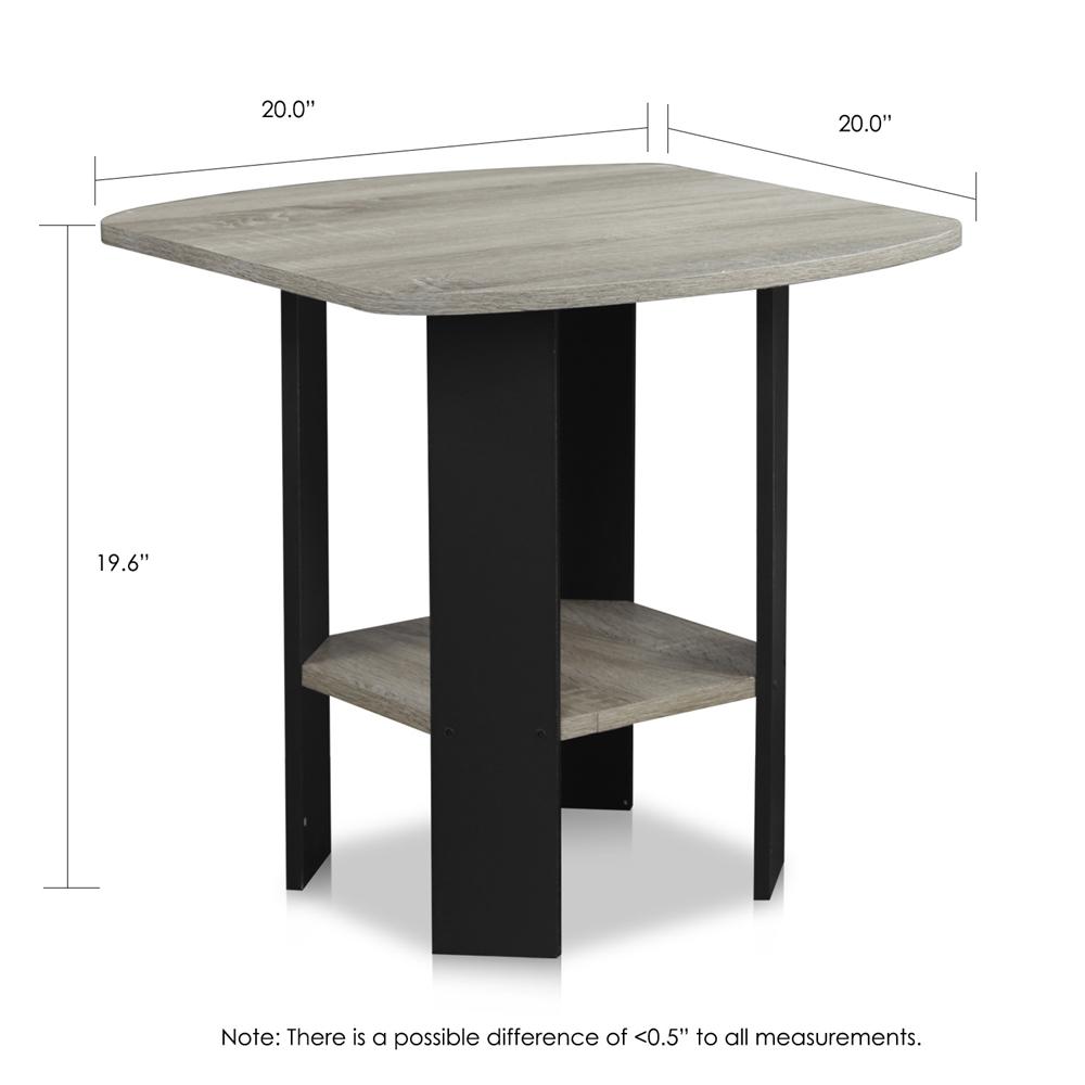 Simple Design End/Side Table, Oak Grey/Black. Picture 2