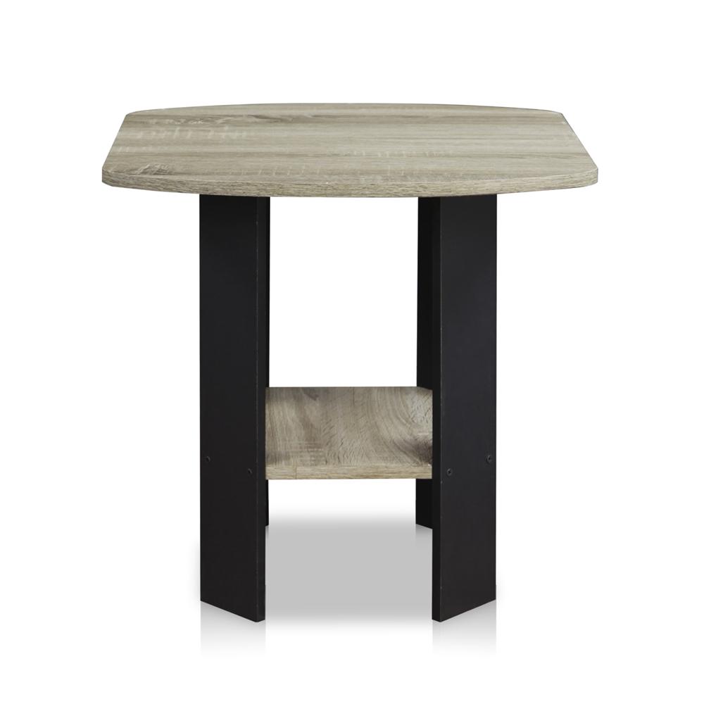 Simple Design End/Side Table, Oak Grey/Black. Picture 5