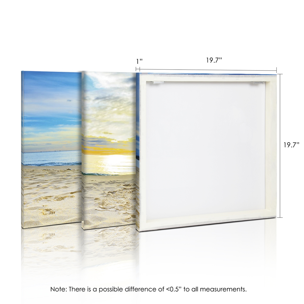 SENIC Fishing at Sunset 3-Panel Canvas on Wood Frame, 60 x 20-in. Picture 2