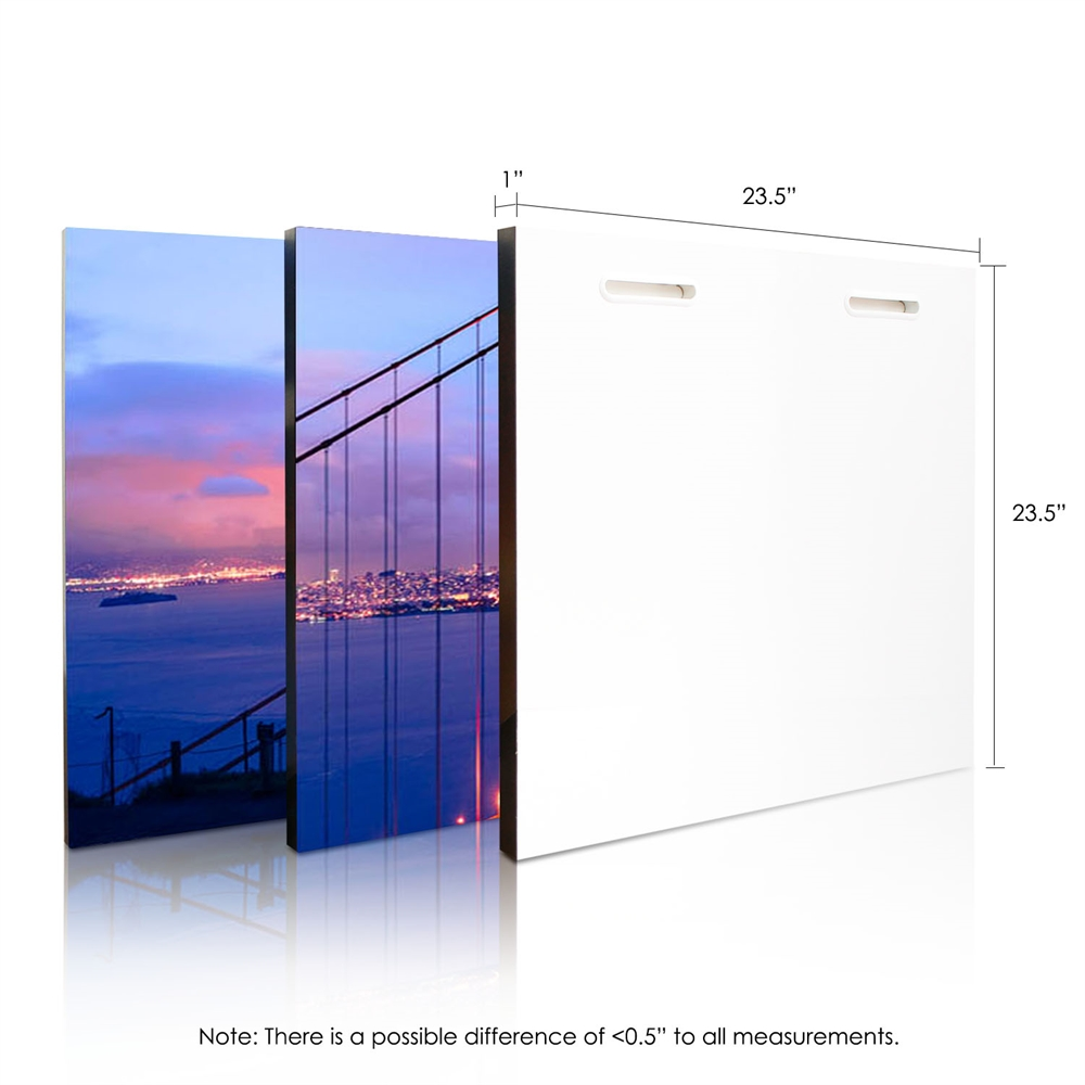 SENIK Golden Gate 3-Panel MDF Framed Photography Triptych Print, 72 x 24-in. Picture 2