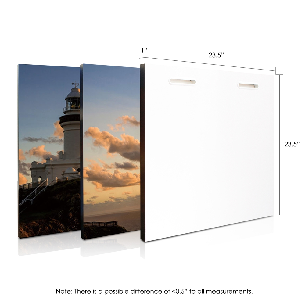 SENIK Light House 3-Panel MDF Framed Photography Triptych Print, 72 x 24-in. Picture 2
