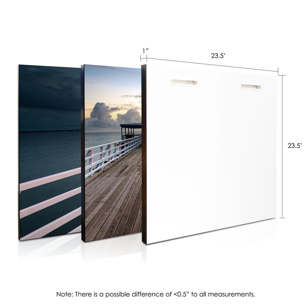 SENIK Brisbane Pier 3-Panel MDF Framed Photography Triptych Print, 72 x 24-in. Picture 2