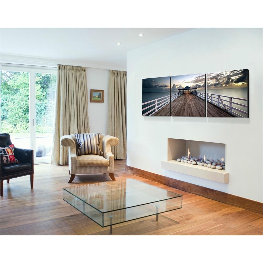 SENIK Brisbane Pier 3-Panel MDF Framed Photography Triptych Print, 72 x 24-in. Picture 3
