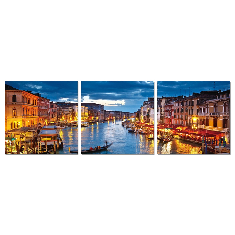 SENIK River walk 3-Panel MDF Framed Photography Triptych Print, 72 x 24-in. Picture 1
