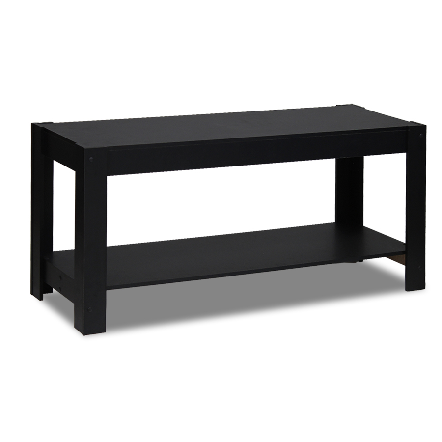 Parsons Entertainment Center TV Stand/Coffee Table, Black. Picture 1