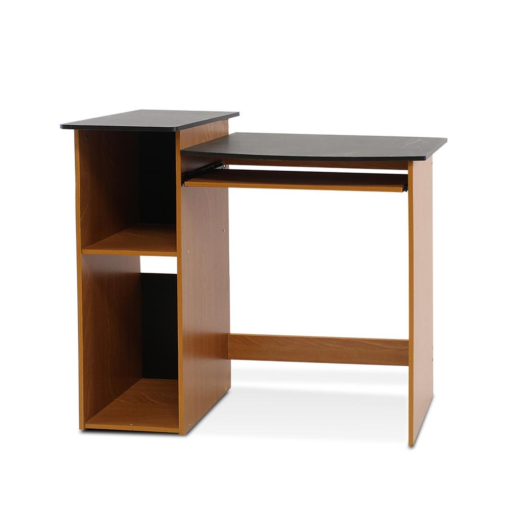 Econ multipurpose computer writing desk light cherry black