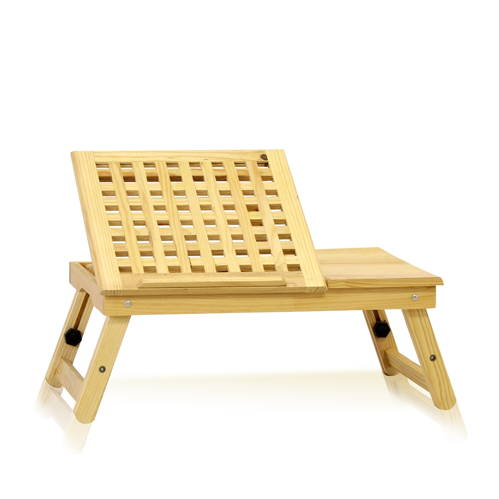 Pine Solid Wood AdJustable Ventilated Notebook Lapdesk, Natural. The main picture.