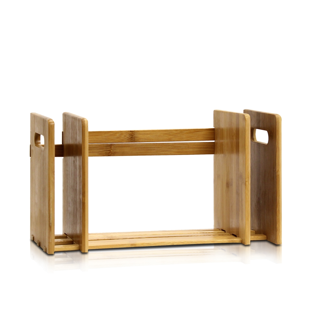 Bamboo Extesion Book Rack, Natural. Picture 2