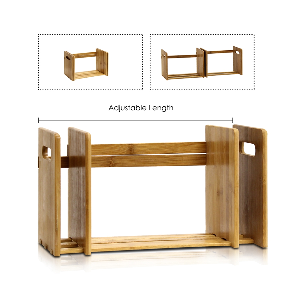 Bamboo Extesion Book Rack, Natural. Picture 4