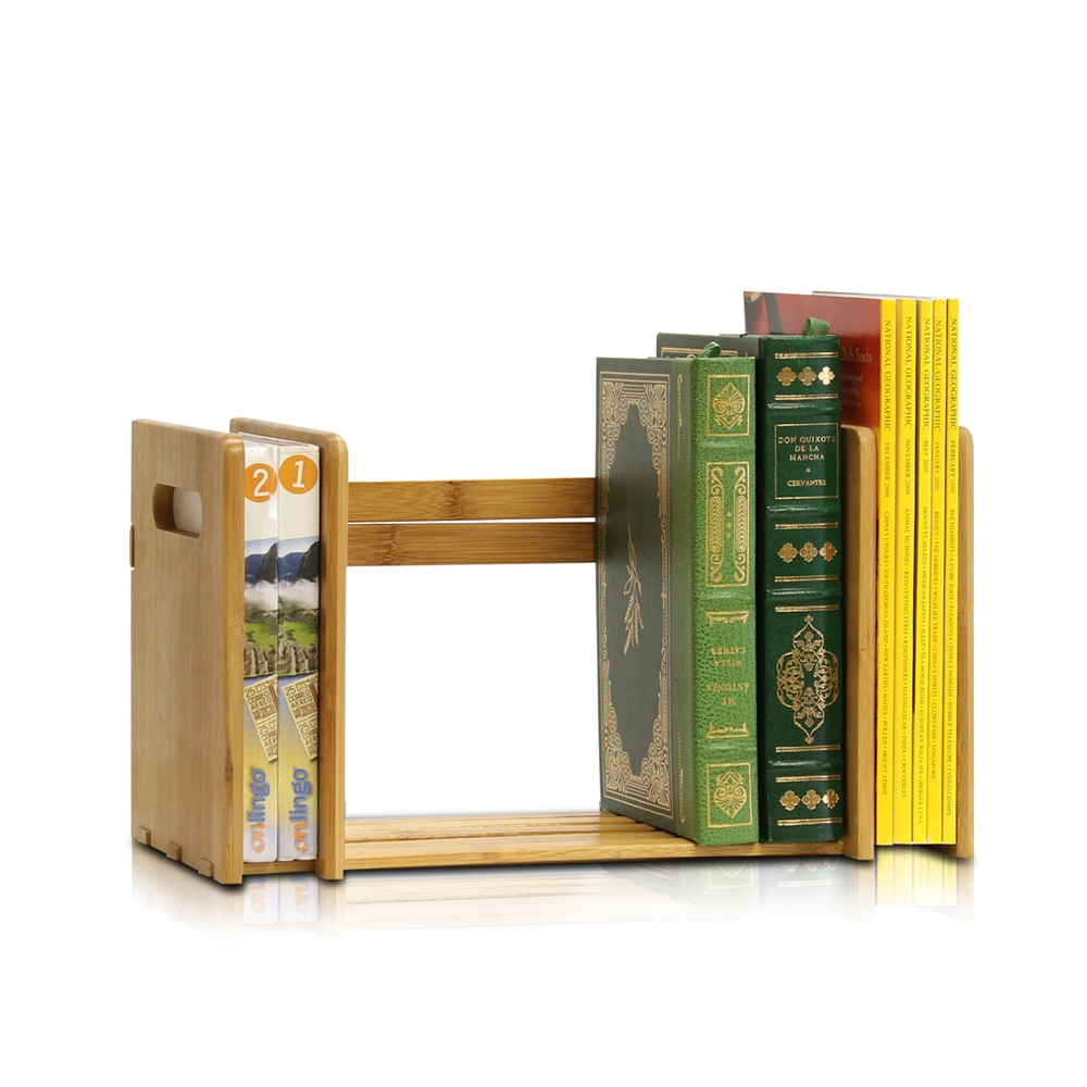 Bamboo Extesion Book Rack, Natural. Picture 5