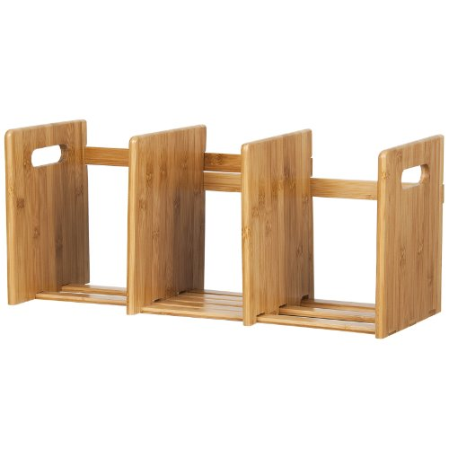 Bamboo Extesion Book Rack, Natural. Picture 6