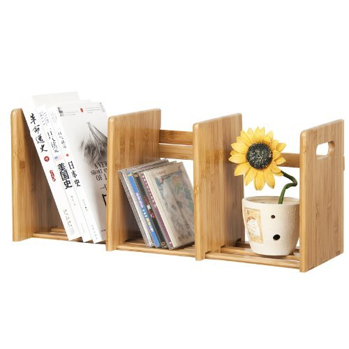 Bamboo Extesion Book Rack, Natural. Picture 7