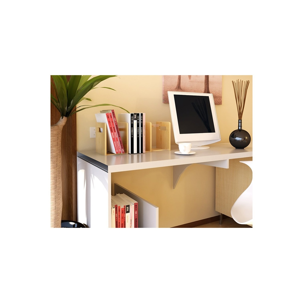 Bamboo Extesion Book Rack, Natural. Picture 9