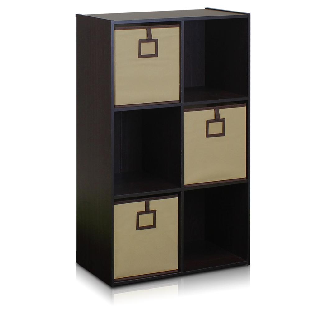 Econ 6-Cube Organizer, Espresso. Picture 1
