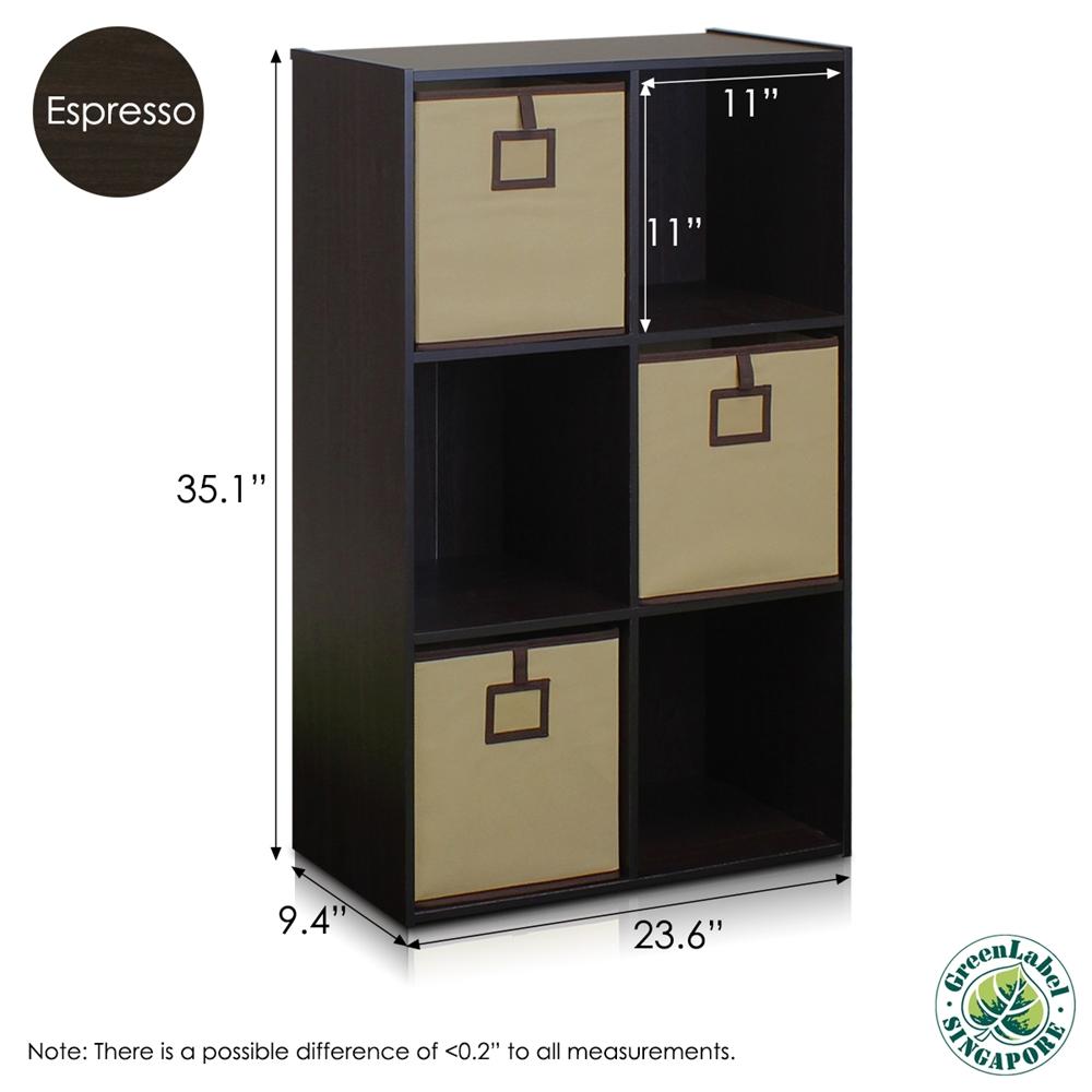 Econ 6-Cube Organizer, Espresso. Picture 2