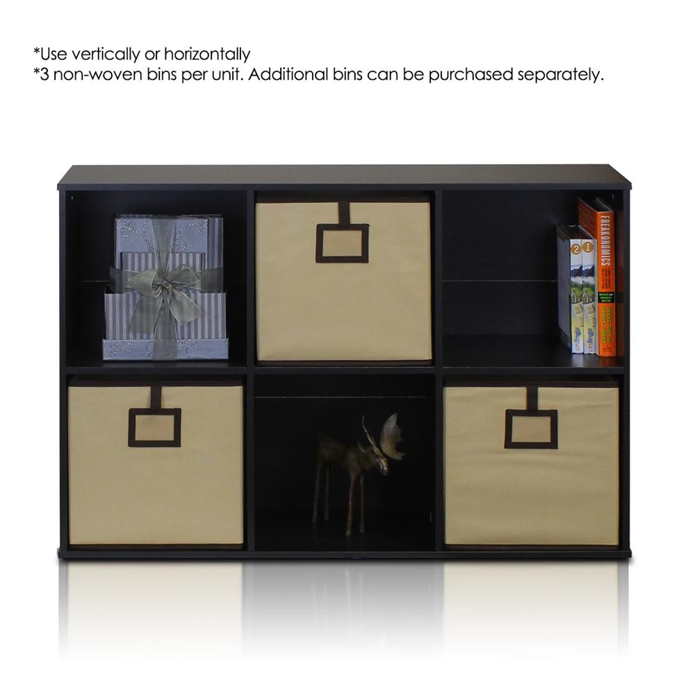 Econ 6-Cube Organizer, Espresso. Picture 3