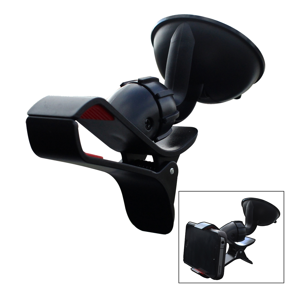 Easy Mount Suction Universal Car Phone Mount Holder, Black. Picture 1