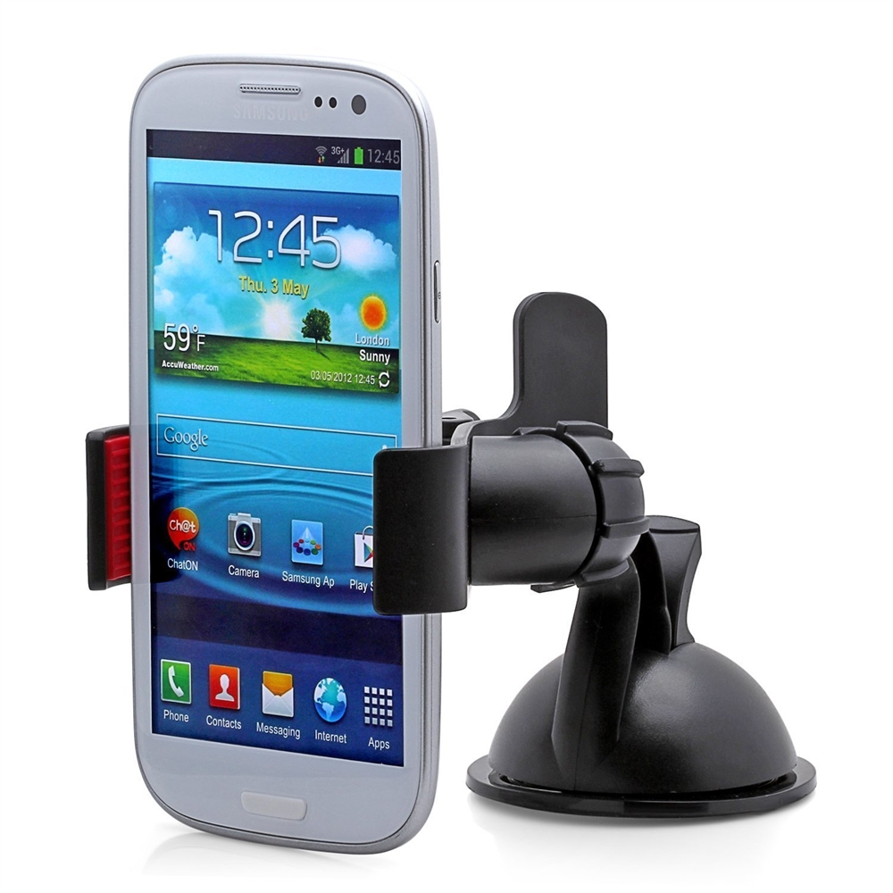 Easy Mount Suction Universal Car Phone Mount Holder, Black. Picture 5