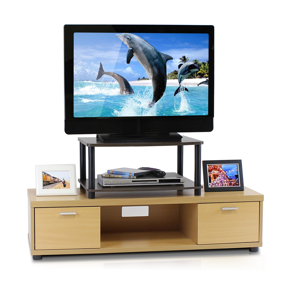 Turn-N-Tube No Tools 2-Tier Elevated TV Stands. Picture 3