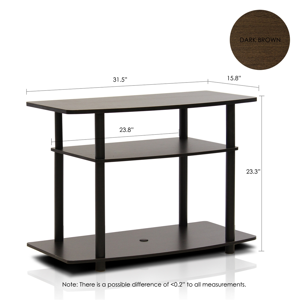 Turn-N-Tube No Tools 3-Tier TV Stands. Picture 2