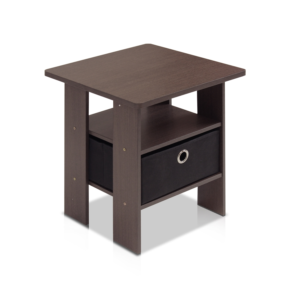 End Table Bedroom Night stand w/Bin Drawer. Picture 1