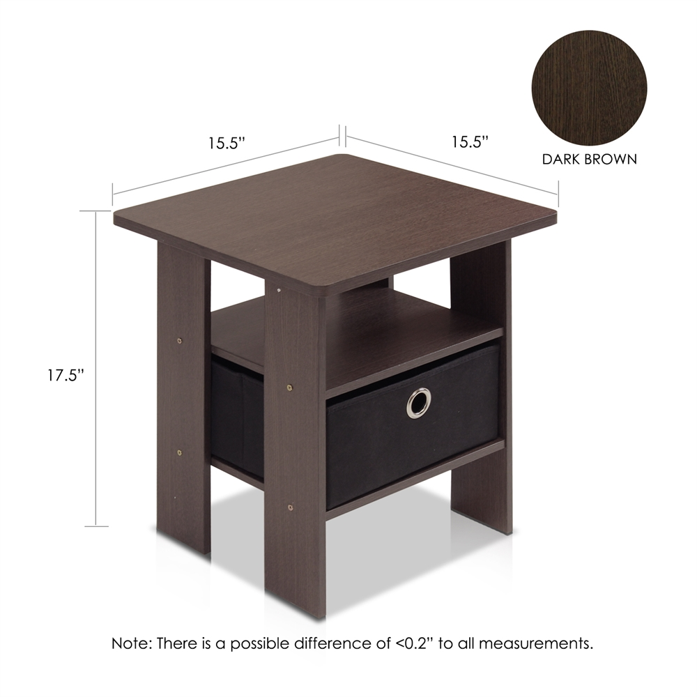 End Table Bedroom Night stand w/Bin Drawer. Picture 2
