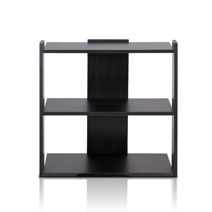 Hidup Tropika Mini Ladder Shelf, Espresso. Picture 1