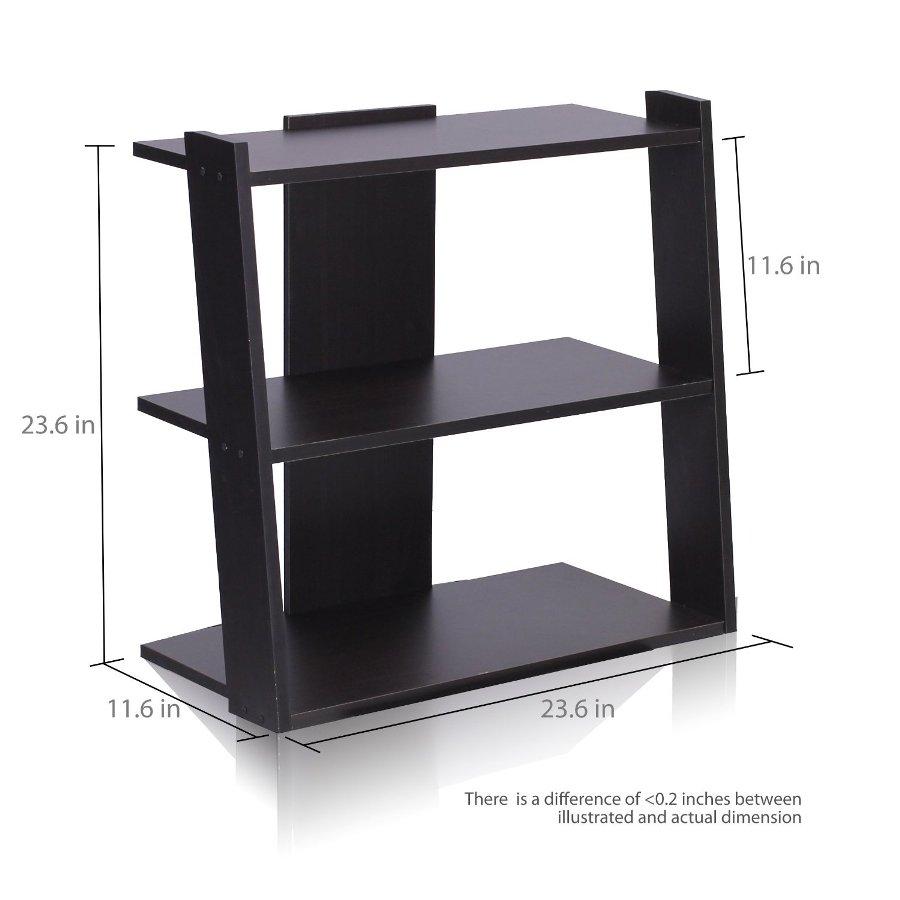 Hidup Tropika Mini Ladder Shelf, Espresso. Picture 2