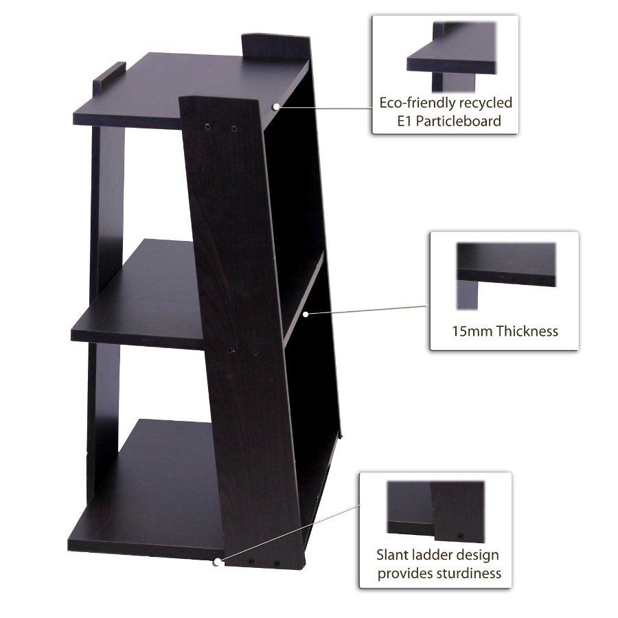 Hidup Tropika Mini Ladder Shelf, Espresso. Picture 3
