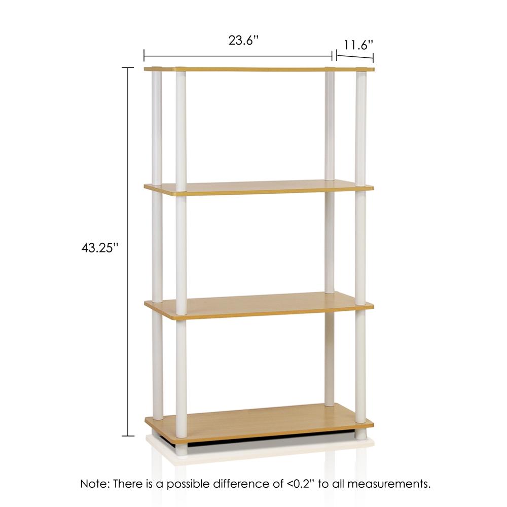 Turn-N-Tube 4-Tier Multipurpose Shelf Display Rack, Beech/White,. Picture 2