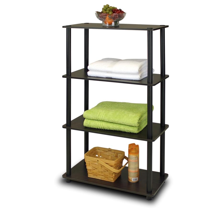 Turn-N-Tube 4-Tier Multipurpose Shelf Display Rack, Espresso/Black. Picture 5