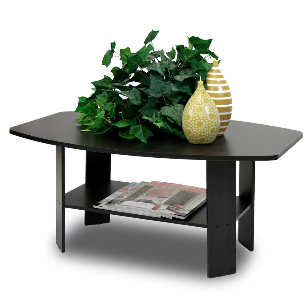 Simple Design Coffee Table, Espresso. Picture 1