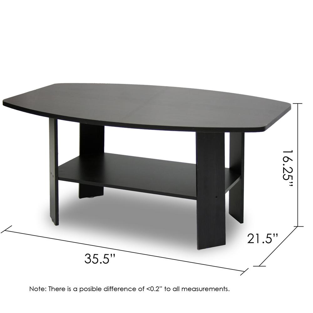 Simple Design Coffee Table, Espresso. Picture 2