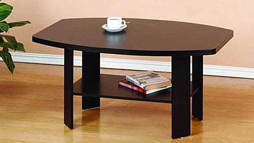 Simple Design Coffee Table, Espresso. Picture 3