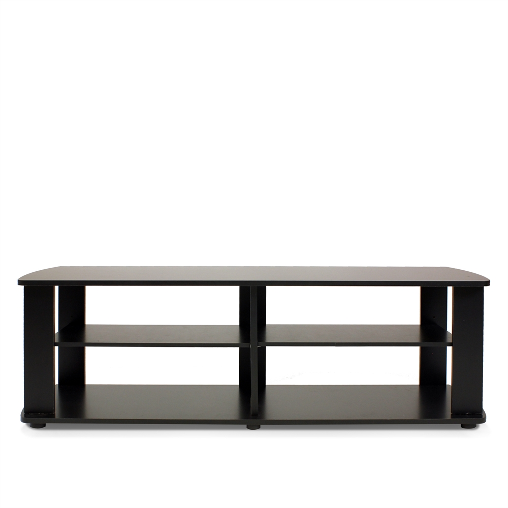 THE Entertainment Center TV Stand, Black. Picture 1