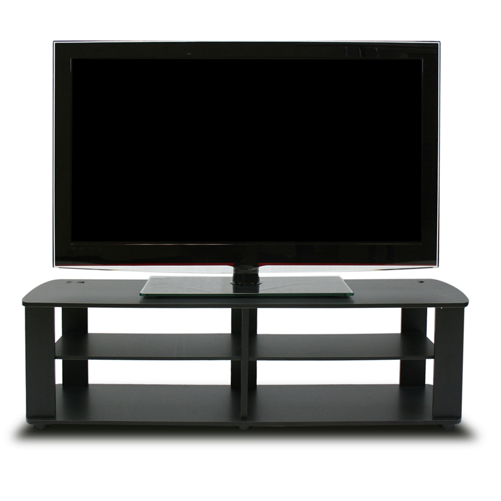 THE Entertainment Center TV Stand, Black. Picture 3