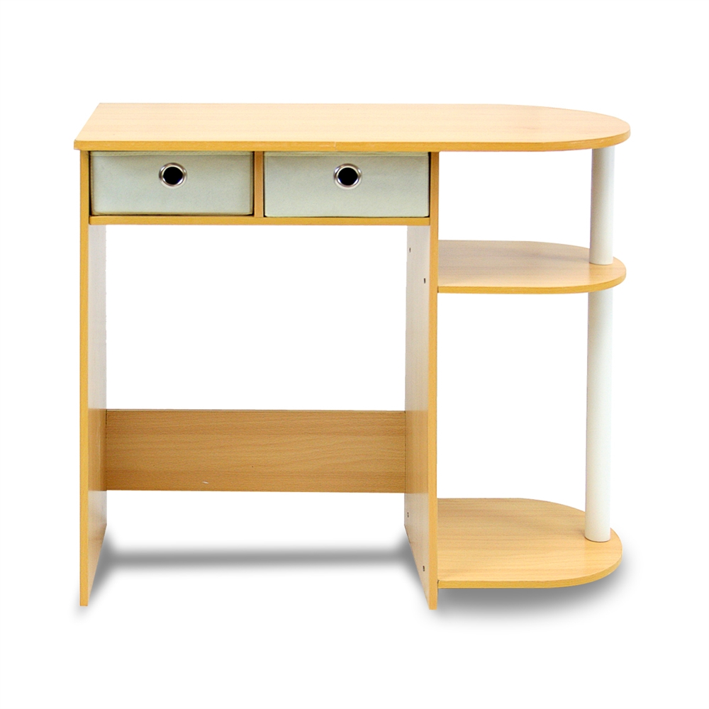 Go Green Home Laptop Notebook Computer Desk/Table, Beech/Ivory/White. Picture 2
