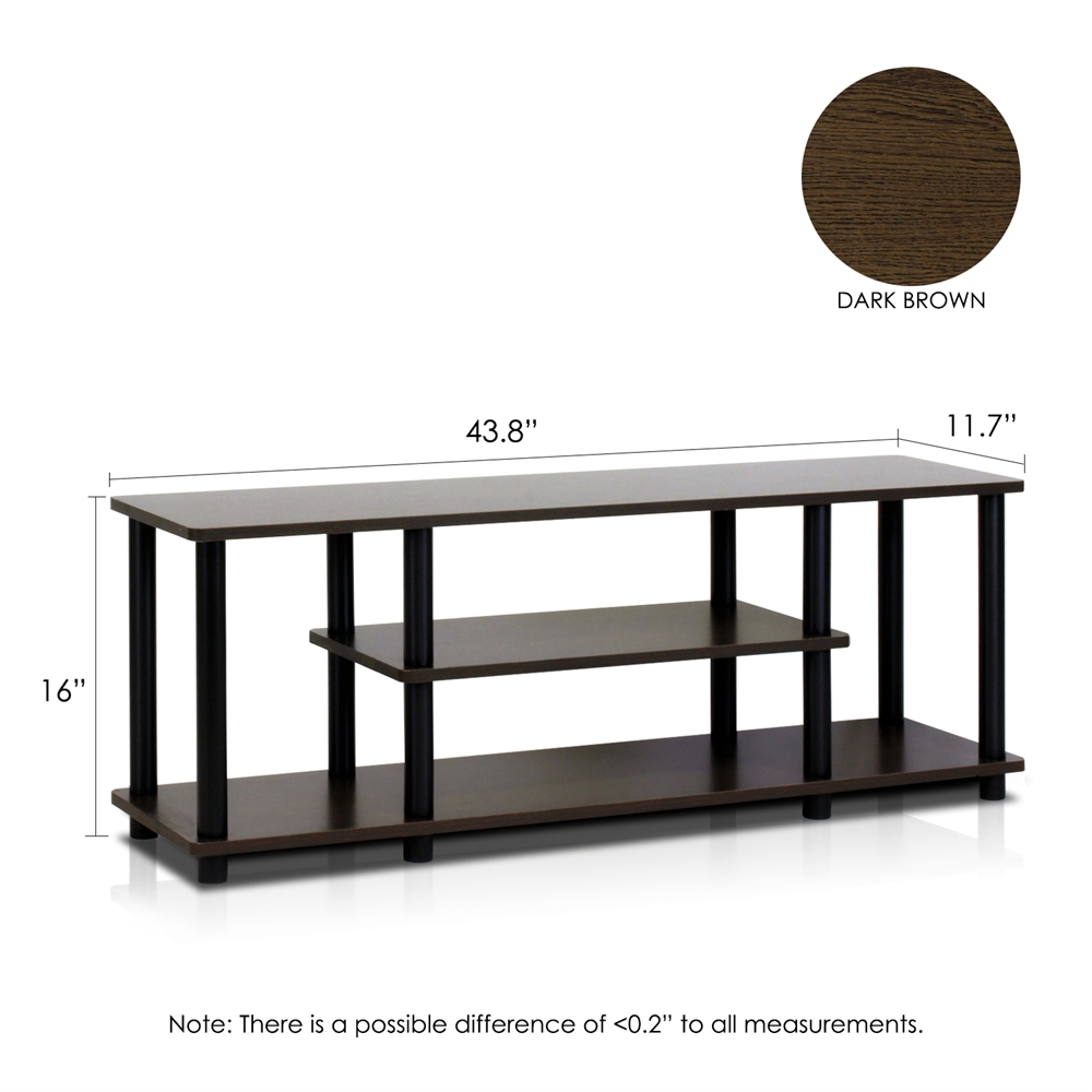 Turn-N-Tube No Tools 3-Tier Entertainment TV Stands. Picture 2