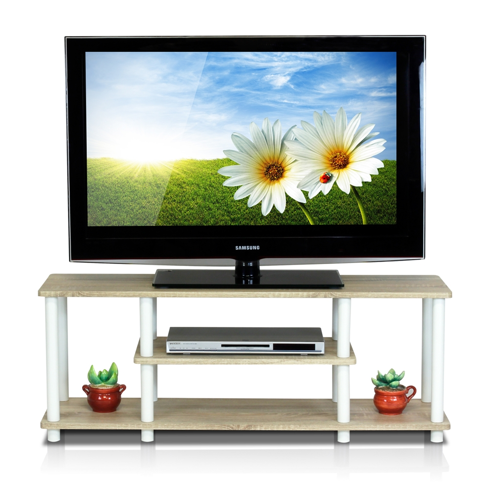Turn-N-Tube No Tools 3D 3-Tier Entertainment TV Stands. Picture 3