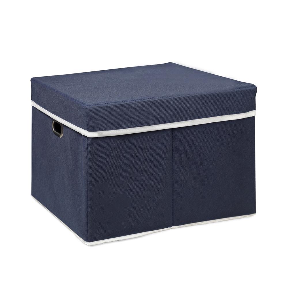 Non-Woven Fabric Heavy-Duty Storage Organizer, Dark Blue. Picture 1