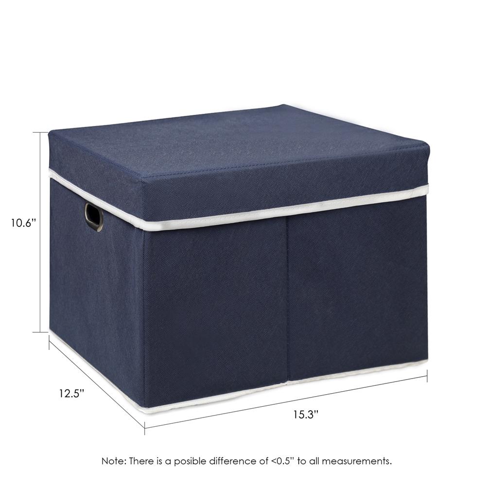 Non-Woven Fabric Heavy-Duty Storage Organizer, Dark Blue. Picture 2
