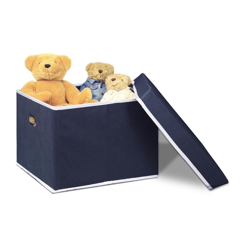 Non-Woven Fabric Heavy-Duty Storage Organizer, Dark Blue. Picture 3